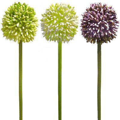 54cm Decorative Artificial Allium Flower Stem - Choose Colour From List