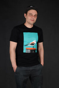 CLEPTOMANICX-Paint-Gull-BLACK-Columbia-T-shirt