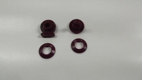 10 x Minax Schnellverschlüsse Stoff- Stoff weinrot Ober- und Unterteil
