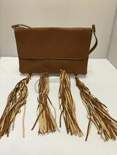 Señoras Bronceado Borla encanto Embrague Bolso Niñas Bolso Moda Cross Body Bag ch2455