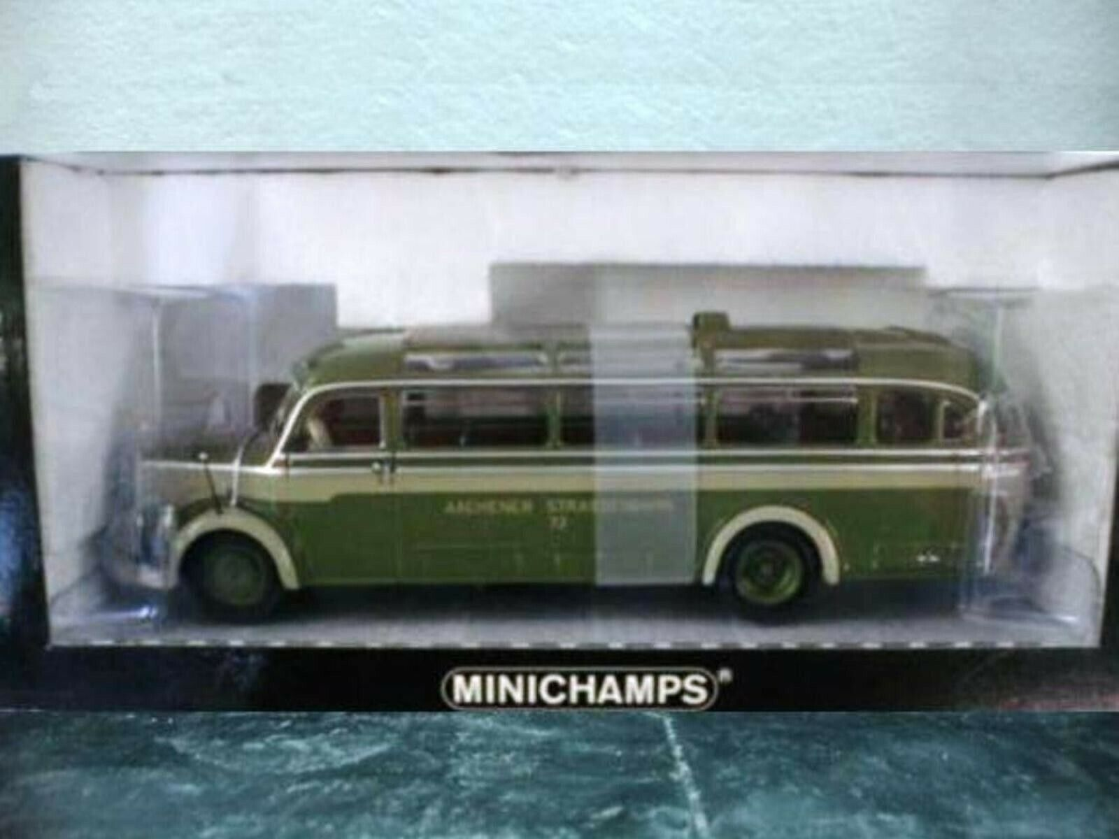 WOW EXTREMELY RARE Mercedes O 3500 Bus Aachener 1 43 Minichamps-302 317 321 404
