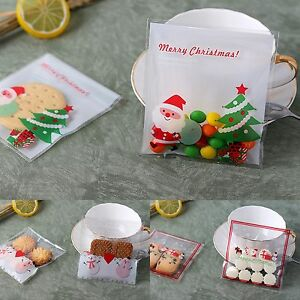 Christmas Gift Bags Diy.Details About 30x Christmas Gift Bags Santa And Snowman Treat Lollies Bag Macaron Cookie Diy