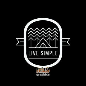 Small Simply Living Bumper Sticker Decal Simplify