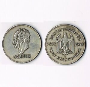 5-Reichsmark-GOETHE-1932-D-Weimarer-Republik
