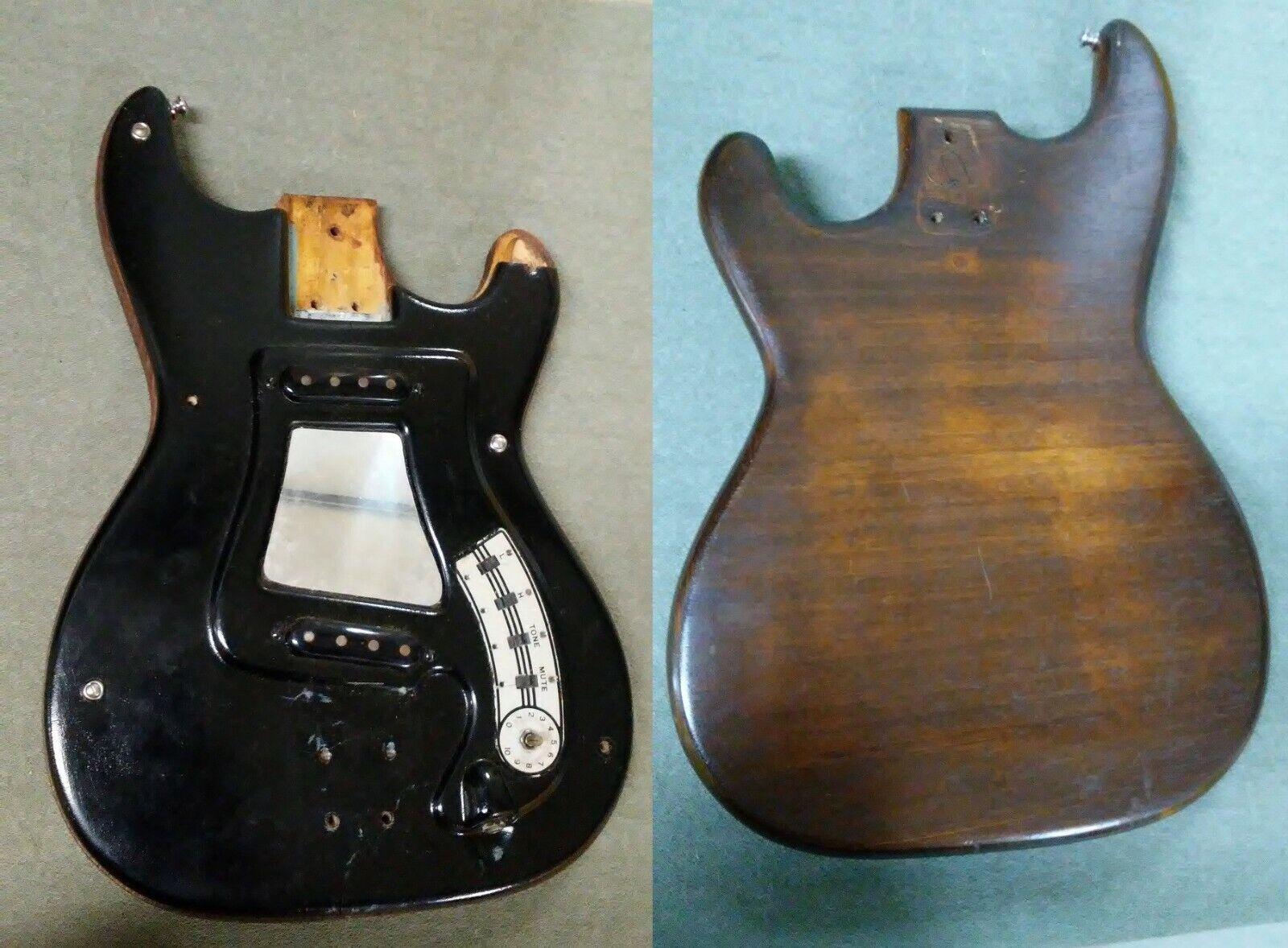 Hagstrom Bass Body Model I Futurama Schweden Made Electronics && Broken Pickguard