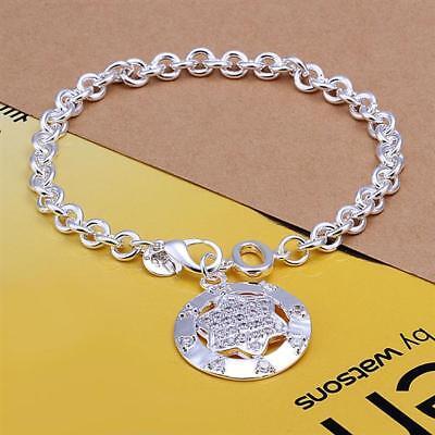 WohltäTig Asamo Damen Armband Stern Anhänger Zirkonia 925 Sterling Silber Plattiert A1302 Reisen