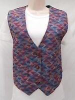 Vintage Womens Steer Brand Western Cotton Authentic Vest Aztec Cowboy Large