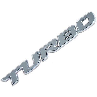CHROME METAL TURBO ENGINE RACE MOTOR SWAP EMBLEM BADGE FOR TRUNK HOOD DOOR A