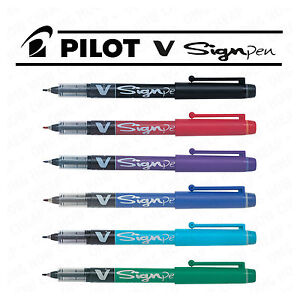 Pilot-V-Sign-Pen-Handwriting-Pen-2mm-Thick-Tip-Liquid-Ink-SW-VSP