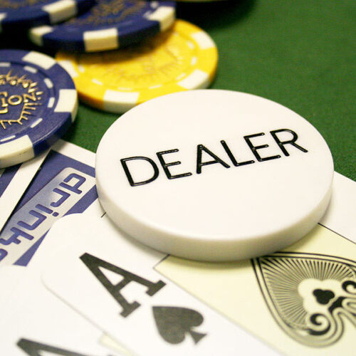 Poker Dealer Button 1 One Dealer Button 2 Inch Texas Holdem Poker Casino Collectibles Casino Collectibles