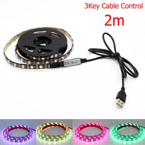 DC 5V 5050 60LED//M RGB LED Strip Light Bar TV Back Lighting Kit W//USB Remote