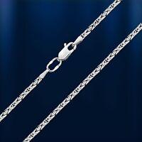 Kette Silber 925 Königskette Halskette Collier . Breite 2mm