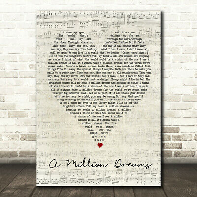 photograph relating to A Million Dreams Lyrics Printable called A Million Desires Script Centre Tune Lyric Quotation Print eBay