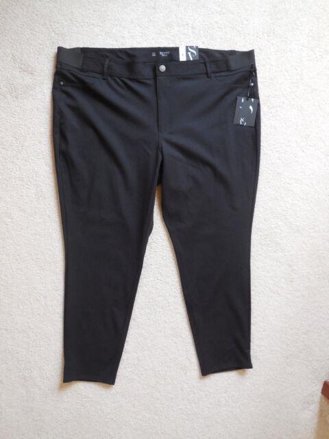 32ea4ffa43f Women s Simply Vera Vera Wang Ponte Pants Skinny Plus Size 3X Short Black