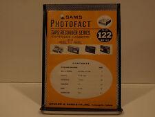SAMS Photofact Tape Recorder Series TR-122 May 1973 OEM Manual