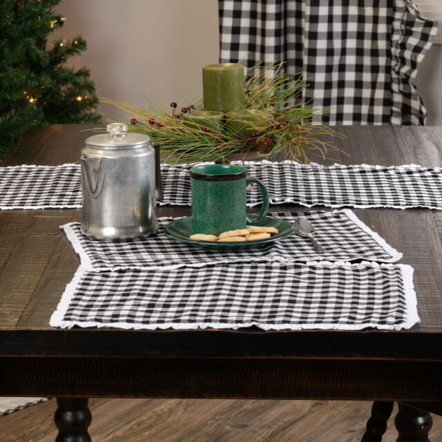 Dining Table Centerpiece Black Silk