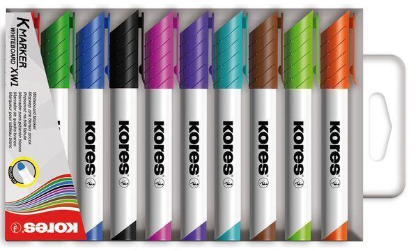 Kores Whiteboard-Marker K MARKER XW1, Rundspitze, 6er Etui
