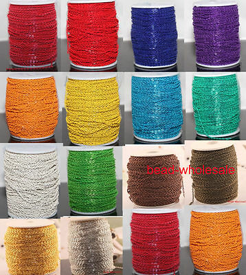 5m/100m Various Colorful Cable Open Link Iron Metal Chain Findings Diy Jewellry