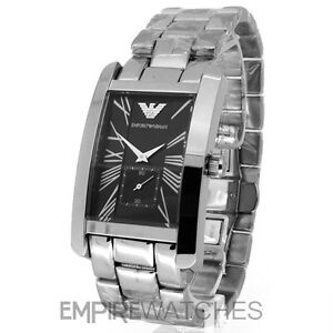 16ea18174088 NEW  MENS EMPORIO ARMANI CLASSIC STEEL WATCH - AR0156 - RRP £195.00 ...
