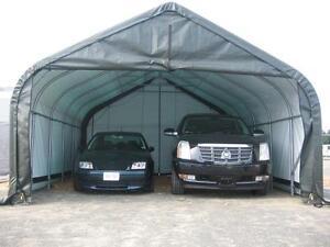 18x20x12 Peak ShelterLogic Snow Shedding Portable Garage ...