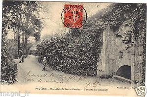 77-cpa-PROVINS-Une-allee-du-jardin-Garnier-Fontaine-Sainte-Elisabeth