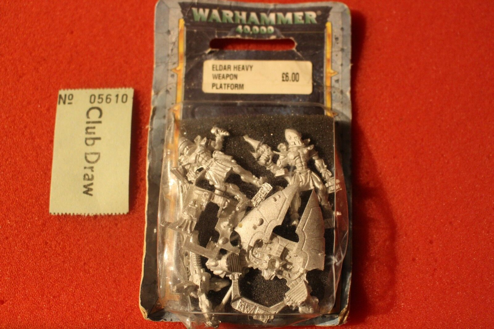 Games Workshop Warhammer 40k Eldar Heavy Weapons Grav Platform Metal Star Cannon