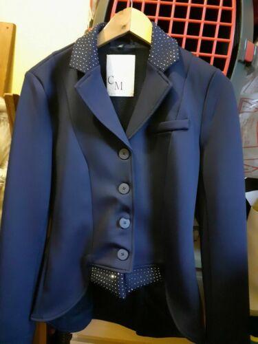 PROMOTION HKM Cavallino Marino Venezia queue courte Dressage Veste En Bleu Marine