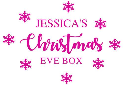 Vinyl decal 2 DIY Christmas Eve Box Personalised Christmas Eve Box Sticker