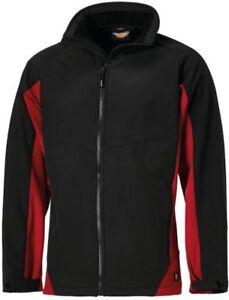 Dickies Maywood Waterproof Softshell Work Jacket Black /& Red Sizes S-XXXXL