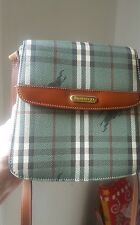 Rare Vintage Burberry Green Check Cross body Bag Purse