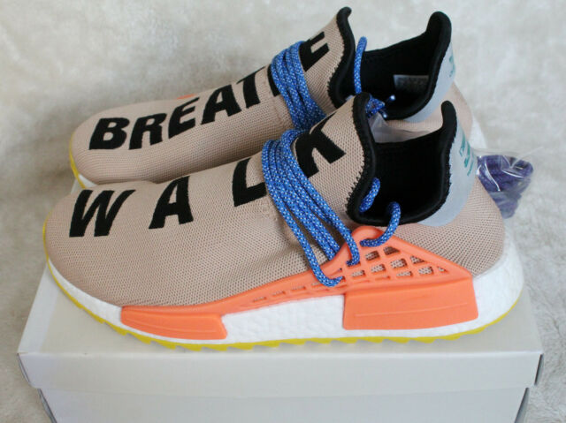 NUOVO Adidas Pharrell Williams razza umana HU NMD Pallido NUDO BEIGE TAN UK 9.5 US 10