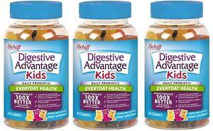 Digestive Advantage Kids Daily Probiotic Gummies - 60 count EXP 08/21 ( 3 PACKS)