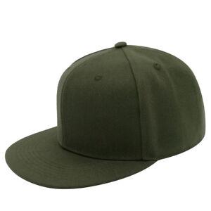edb942bb35c2c Adult Plain Baseball Cap Flat Bill SnapBack Blank Hat Adjustable for ...
