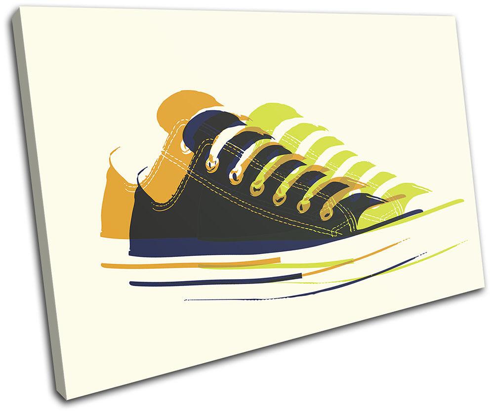 Sneaker Pop Art Illustration SINGLE SINGLE SINGLE TOILE murale ART Photo Print 8926de