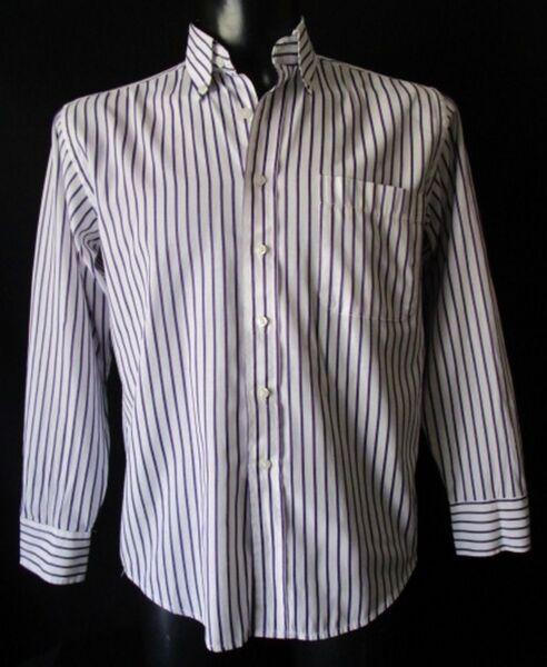 ***y_7 Fashion Collection Camicia Shirt Tg.39-15 Fantasia A Righe Viola Cod. As