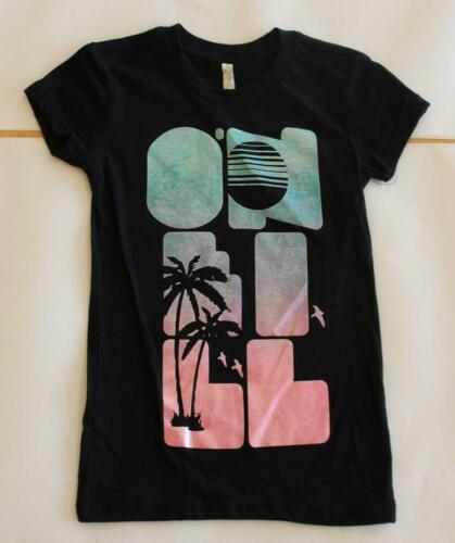 "NEW O/'Neill Girls /""Seal Beach/"" Graphic Tee Black"