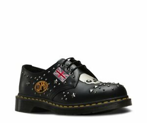 super specials good service pretty cool Details zu New Dr Martens Rock & Roll Leather Studs And Skull Unisex Shoes  UK Size 3 Black