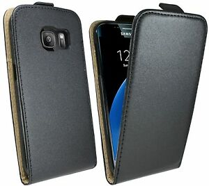 handytasche f r samsung galaxy s7 edge g935f case cover h lle tasche in schwarz ebay. Black Bedroom Furniture Sets. Home Design Ideas