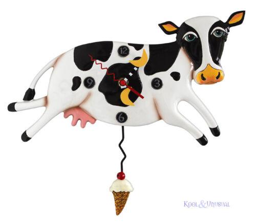 Hilarious BESSY COW Designer Wall Clock by Allen Designs