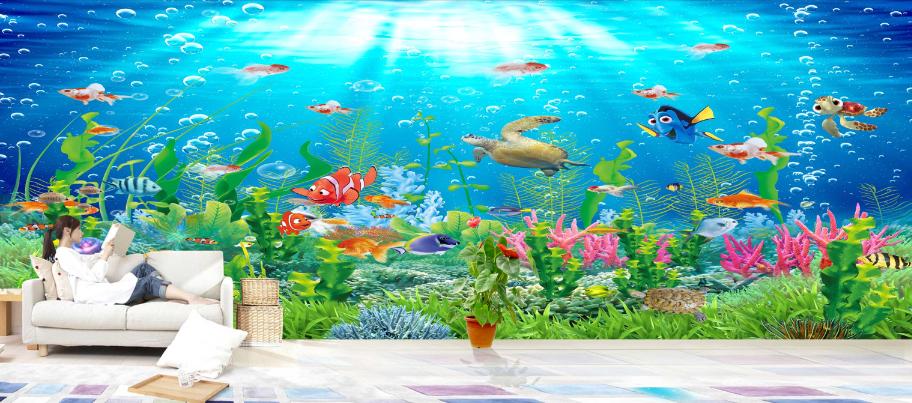 3D Cartoon Seabed 867 Wall Paper Murals Wall Print Wall Wallpaper Mural AU Kyra