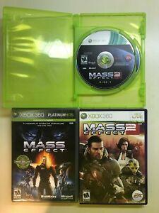Mass Effect Trilogy 1 2 3 Triple Pack Bundle Lot XBox 360 Microsoft with BONUS