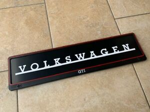 VW-Golf-GTI-License-Plate-Holder-Frame-Surround-with-VOLKSWAGEN-Text-Insert
