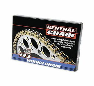 Renthal R1 Works 520 Non O Ring 114 L Motorcycle Gold side plate Chain 25-4114