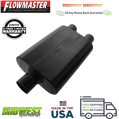 "Flowmaster Muffler 942545; Super 44 Series Aluminized 2.50/"" Center 2.50/"" Center"