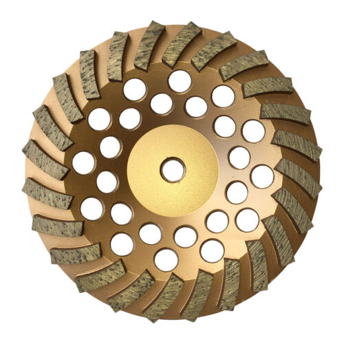 "3PK 7/""x24Seg Spiral Diamond Grinding Cup Wheels for Concrete stone 5//8/""-11 Arbor"