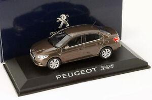 PEUGEOT-301-RICH-OAK-BROWN-METAL-2012-NOREV-473101-1-43-BRAUN-METALLIC