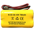 Emergency Light Exit Sign 4.8V 700MAH Ni Cd Battery Replacement BL93NC487