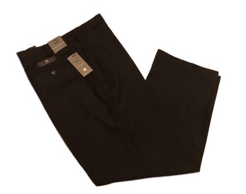 M/&S Para hombres Mezcla de lana negro con cintura activo Calce Regular Pantalones 38//29 36//31 32//33