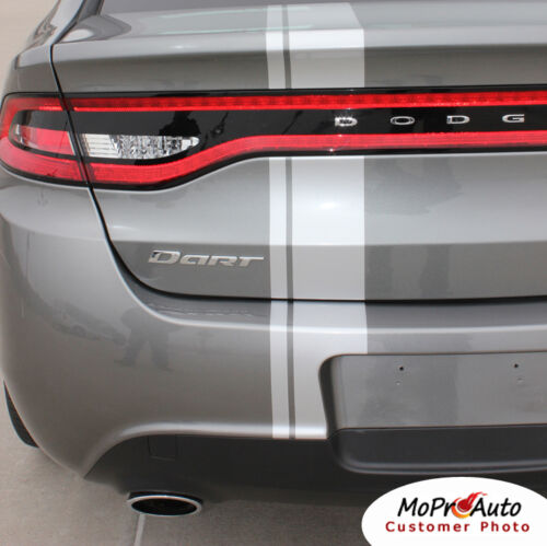 Euro Rally Racing Offset Hood Stripe Vinyl Decal Graphic 2013-2016 Dodge Dart