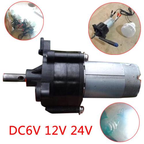 DC6V 12V 24V Miniature Hand Crank Wind Hydraulic Generator Dynamotor Motor
